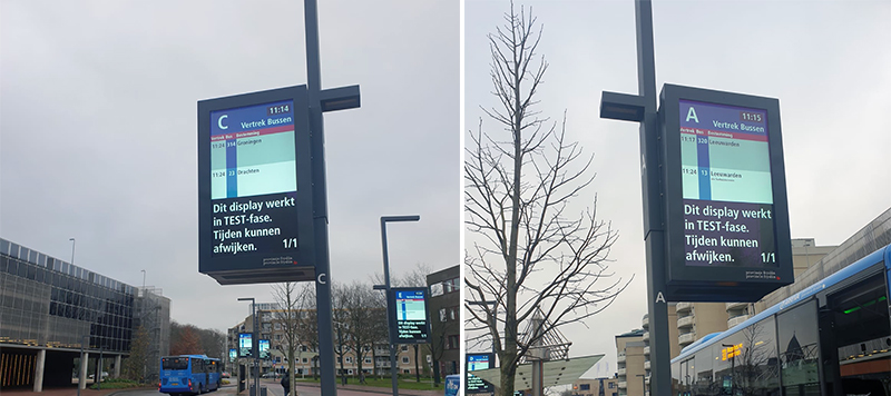 65inches outdoor LCD Display for Flyslan Bus Station